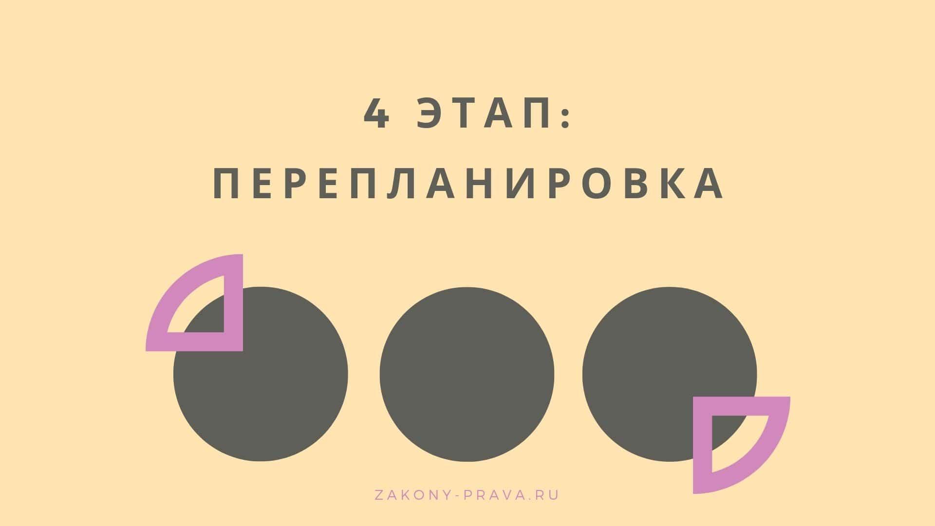 4 этап - перепланировка
