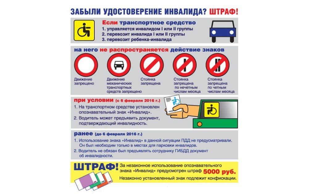 На что теперь стоит обращать внимание при использовании знака инвалида в 2019 году