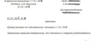 Заявление об увольнении - правильное составление и регистрация